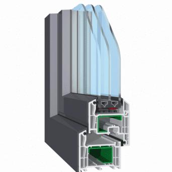 Fenster mit alu-kappen