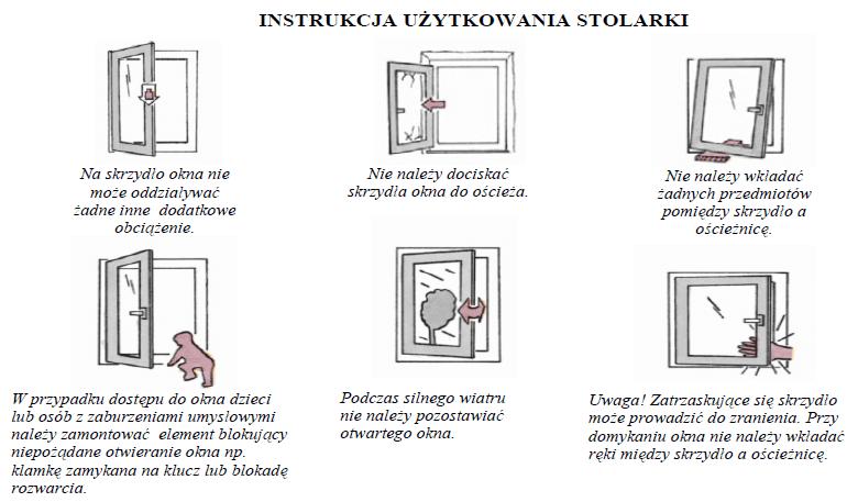instrukcja użytkowania stolarki